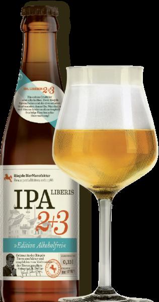 Riegele LIBERIS 2 + 3 Alkoholfreies IPA Bier 330 ml Deutschland