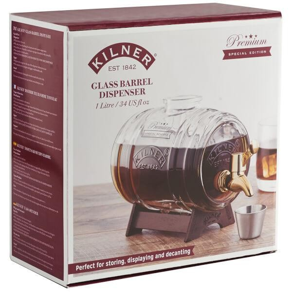 KILNER Glass BARREL Dispenser 1 Liter leer