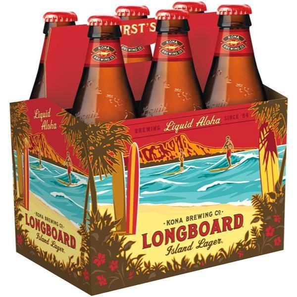 Kona Longboard Island Lager Bier Kiste 24 x 355 ml / 4.6 % Hawaii