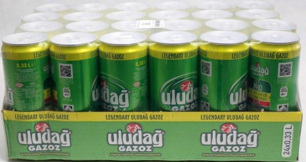 uludag GAZOZ Green Case 24 x 330 ml Türkei