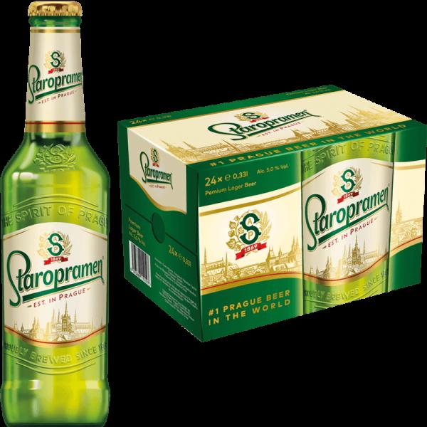 Staropramen Premium Bier 24 x 330 ml / 5 % Tschechien