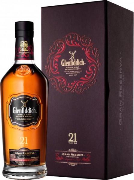 Glenfiddich 21 Gran Reserva Rum Cask Finish Single Malt Scotch Whisky 70 cl / 40 % Schottland