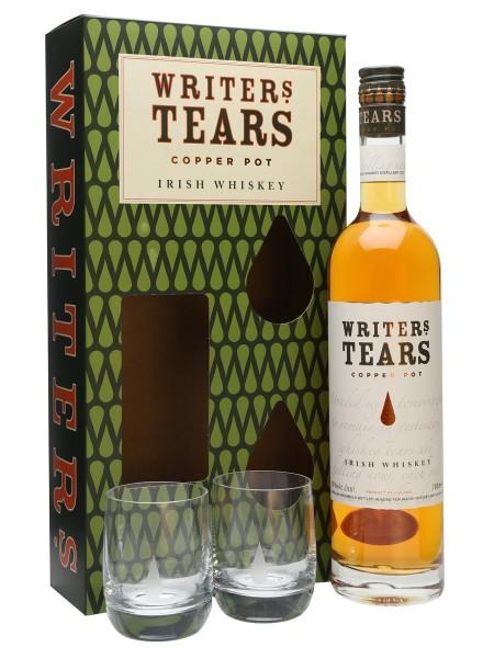 Writers Tears COPPER POT Set mit 2 Gläser Irish Whiskey 70 cl / 40 % Irland