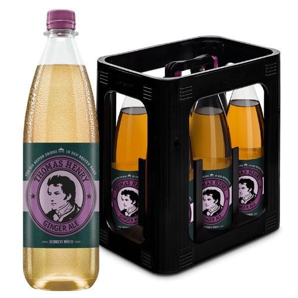 Thomas Henry Ginger Ale Kiste 6 x 1 Liter PET Deutschland