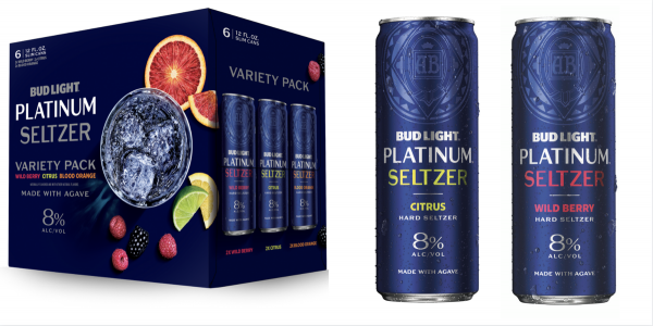 Bud Light PLATINUM Hard Seltzer Variety Pack 24 x 355 ml / 8 % USA