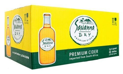 SAVANNA Dry Premum Cider Kiste 24 x 330 ml / 5 % Südafrika