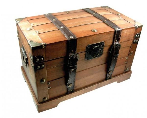 Geschenktruhe aus Holz FSC Quader GROSS 49 x 29 x 26 cm - 2800 Gramm