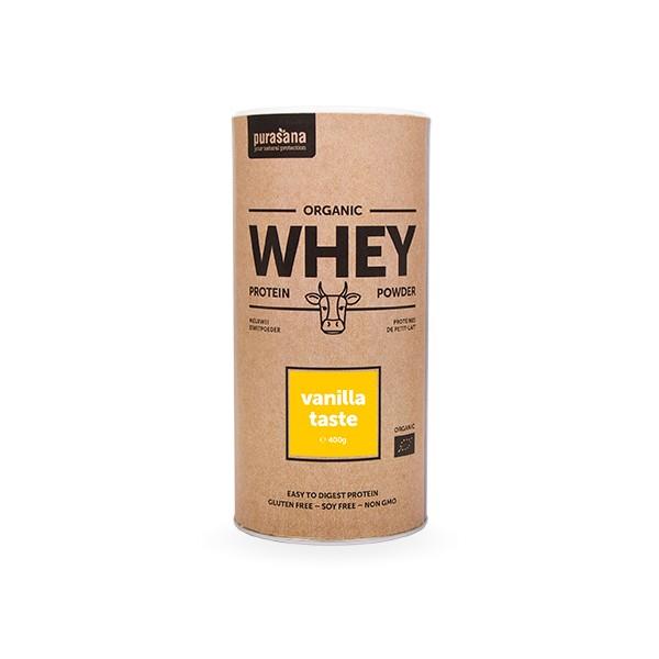 Organic WHEY - MOLKE Protein VANILLA 80 % 400 Gramm BIO