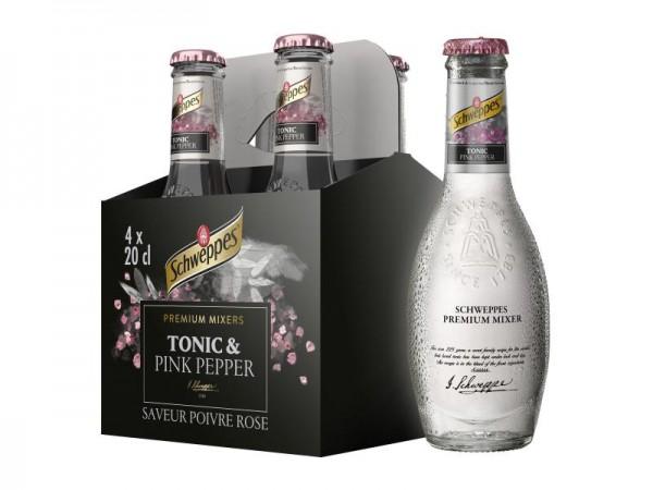 Schweppes Premium Mixer TONIC with Pink Pepper Kiste 24 x 200 ml Belgien