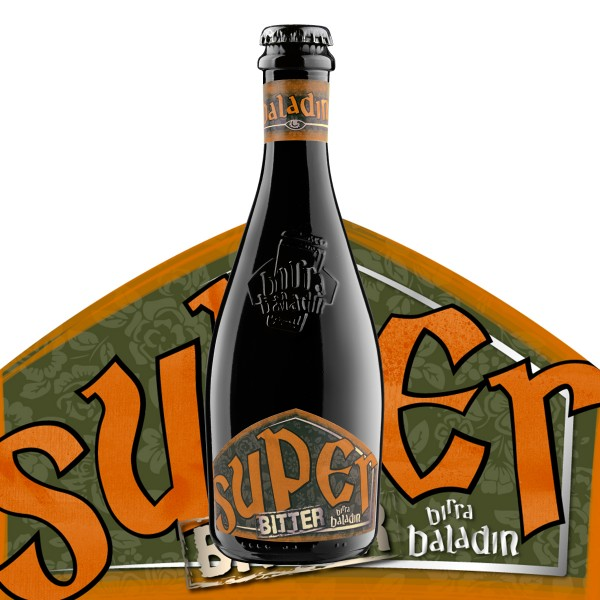 Birra BALADIN SUPER BITTER Hoppend Belgian Ale Starkbier Kiste 24 x 330 ml / 8 % Italien