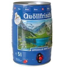 Appenzeller Quöllfrisch Lager Bier Fass 5 Liter / 4.8 % Schweiz