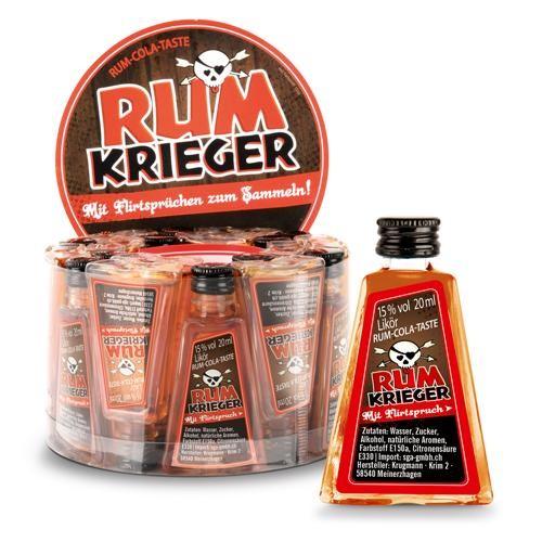 RUM Krieger Shot Rum - Cola Geschmack 20 ml / 15 % Deutschland