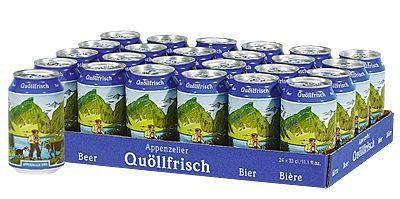 Appenzeller Quöllfrisch Lager Bier 24 x 330 ml / 4.8 % Schweiz