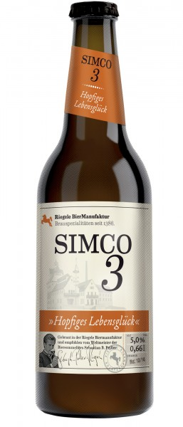 Riegele SIMCO 3 IPA - Brauspezialität: Hopfiges Lebensglück 660 ml / 5 % Deutschland