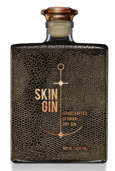 SKIN GIN Edition REPTILE BROWN Handcrafted German Dry Gin 50 cl / 42% Deutschland