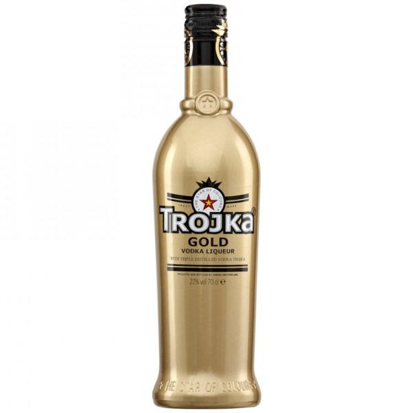 TROJKA GOLD Vodka Likör 70 cl / 22 % Schweiz