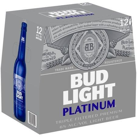 Bud Light Platinum Glasflasche Case 24 x 355 ml / 6 % USA