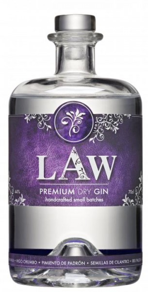 Law Premium Dry Gin 70 cl / 44 % Spanien