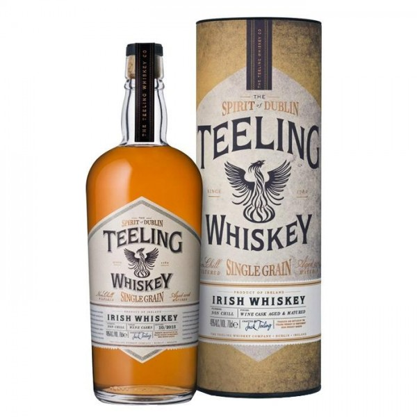 TEELING Whiskey Single Grain Wine Cask Aged & Matured in Tube 70 cl / 46 % Irland