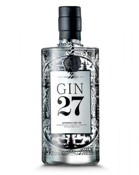 GIN 27 Premium Appenzeller Dry Gin 70 cl / 43 % Schweiz