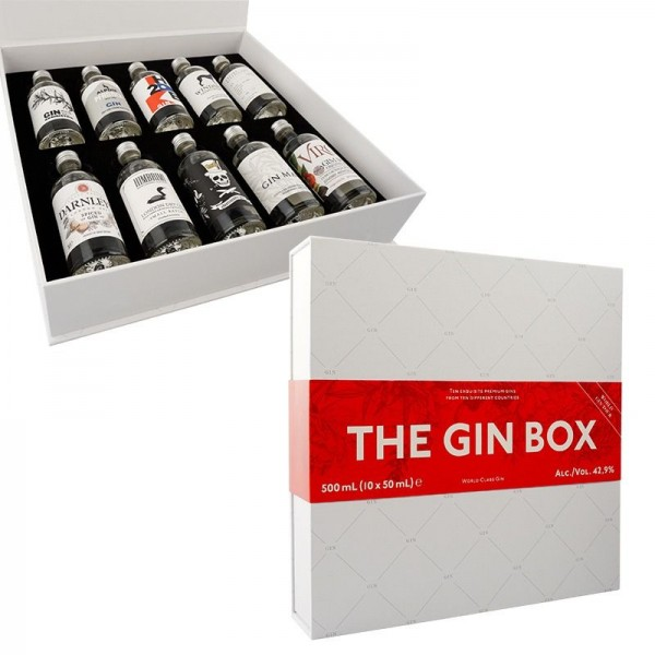 THE GIN BOX World Gin Tour Edition 2020 - 10 x 50 ml / 42.9 % diverse Länder
