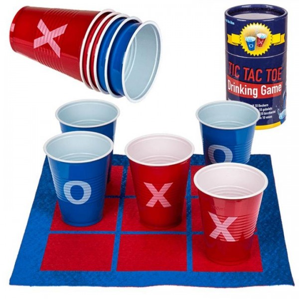 TIC TAC TOE Drinking Game with 10 Cups by out of the Blue
