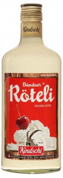 Bündner RAHM Röteli Likör 70 cl / 17 % Schweiz