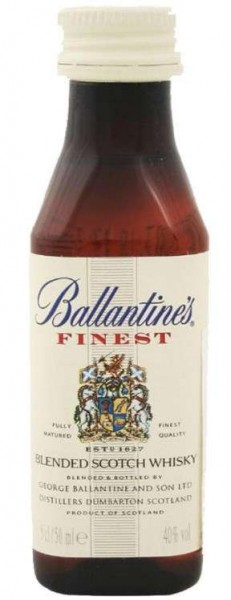 Ballantine's FINEST Blended Scotch Whisky Miniatur PET 5 cl / 40 % Schottland