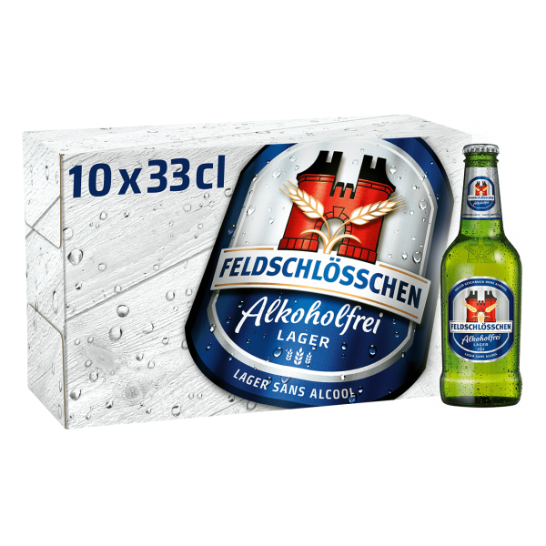 Feldschlösschen ALKOHOLFREI Lager Bier Kiste 20 x 330 ml Schweiz