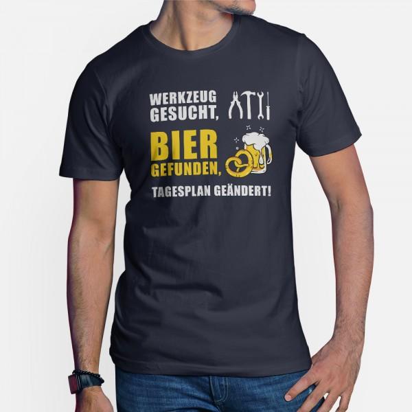 ShirtStar Premium BIER GEFUNDEN T-Shirt HERREN Navy div. Grössen