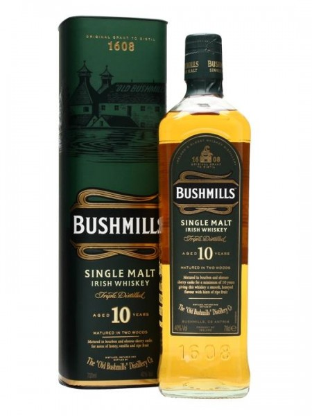 BUSHMILLS 10 Years Irish Single Malt Whiskey 70 cl / 40 % Irland