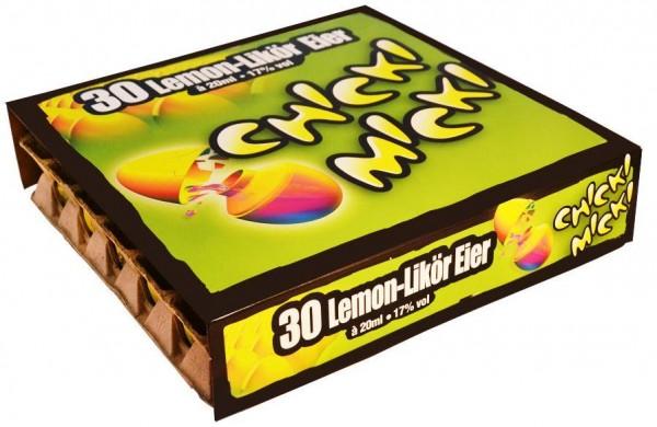 Chicki Micki Lemon - Likör Eier für Huhn 30 Stk x 2 cl / 17 % Deutschland