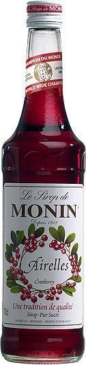 MONIN Premium Airelles / Cranberry Sirup 70 cl Frankreich