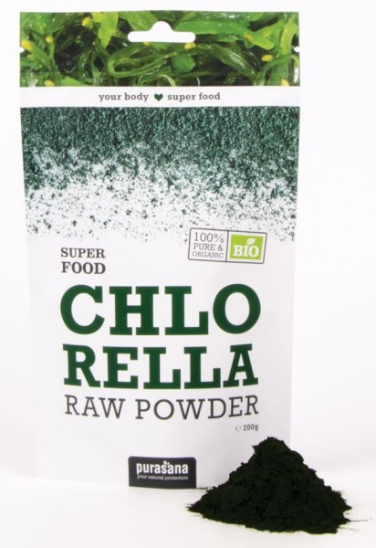 Purasana Superfood CHLORELLA Raw Powder 200 Gramm