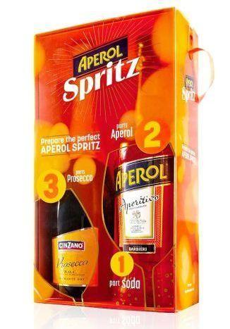 APEROL BI - Pack mit Cinzano Prosecco Doc 75 cl / 12 % plus 70 cl / 20 % Italien