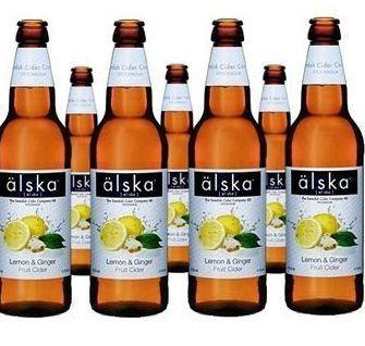 Älska LEMON & GINGER Cider Kiste 12 x 500 ml / 4 % Schweden