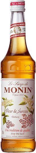 MONIN Premium Fleur de Sureau / HOLUNDER / Elderberry Sirup 70 cl Frankreich