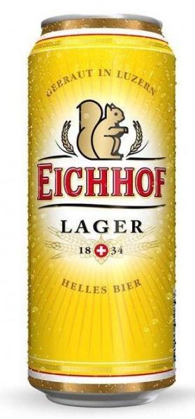 Eichhof LAGER Bier Dose 500 ml / 4.8 % Schweiz