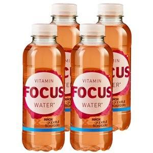 FOCUS Vitamin Water RELAX Grapefruit & Cranberry Kiste 24 x 500 ml Schweiz
