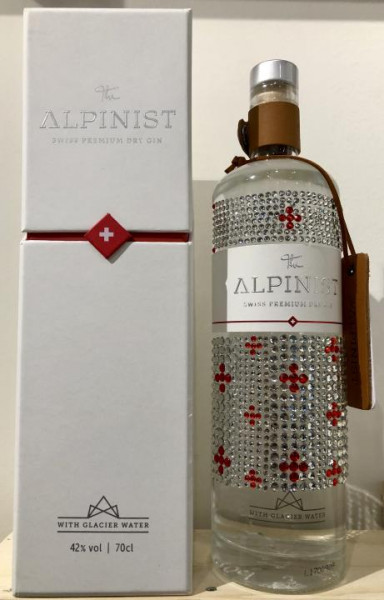 The ALPINIST Dry Gin SPECIAL BLING - BLING Unikat mit Strasssteinen verziert 70 cl / 42 % Schweiz