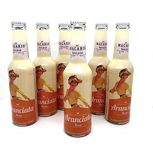 Macario ARANCIATA ROSSA Retro Drink Kiste 24 x 275 ml Italien
