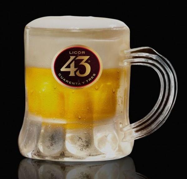LICOR 43 Shot PET Glas Mini Bier ca 5 cl Inhalt