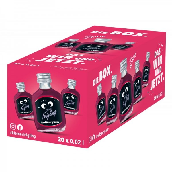 Kleiner FEIGLING RED BERRY SOUR BOX 20 x 2 cl / 15 % Deutschland