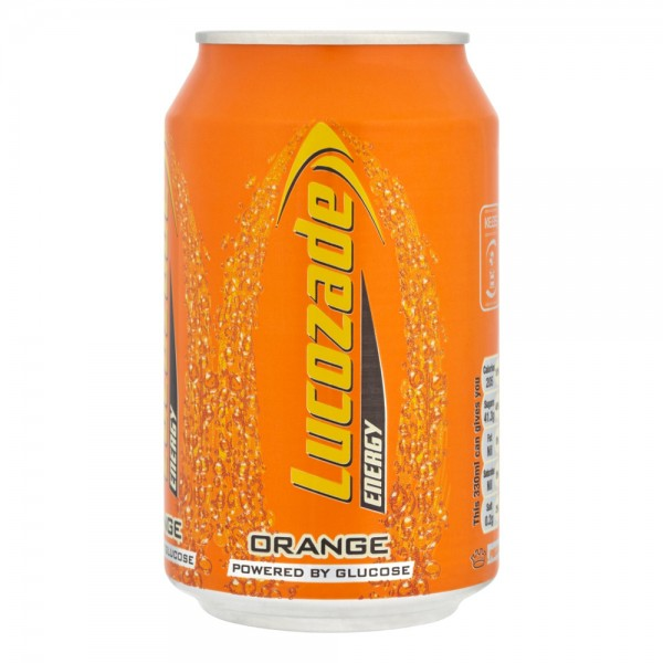 Lucozade ORANGE Energy Drink 330 ml UK