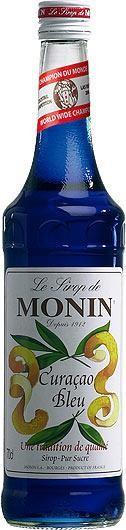 MONIN Premium Blue Curacao Sirup 70 cl Frankreich