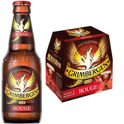 GRIMBERGEN ROUGE Bier Kiste 24 x 250 ml / 6 % Belgien