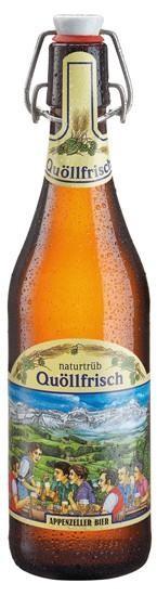 Appenzeller Quöllfrisch Naturtrüb Bügelflasche 15 x 500 ml / 4.8 % Schweiz