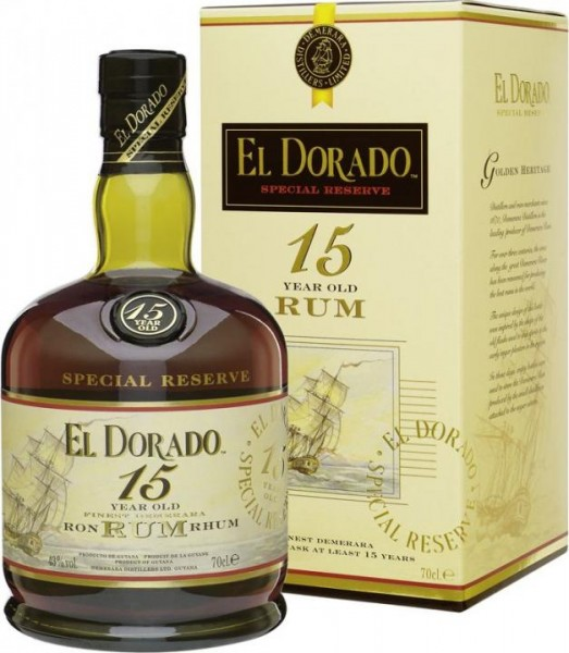 EL DORADO Rum 15 Years 70 cl / 43 % Guyana