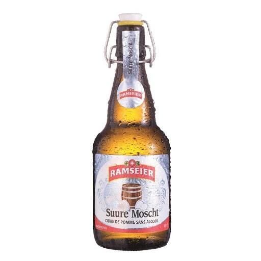 Ramseier SUURE MOSCHT Bügelflasche ALKOHOLFREI Kiste 12 x 490 ml Schweiz