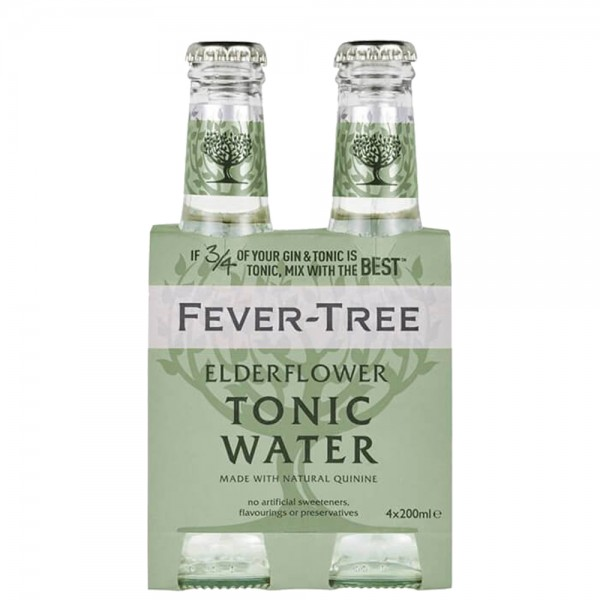FEVER-TREE ELDERFLOWER Tonic Water Kiste 24 x 200 ml UK
